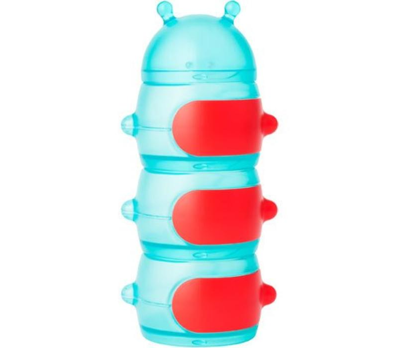 Boon Caterpillar Snack Container Teal-Red