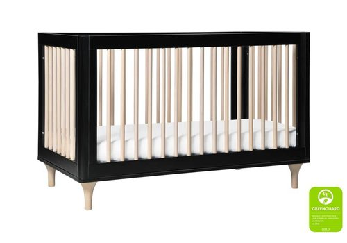 Baby Letto Baby Letto Lolly 3 In 1 Convertible Crib With Toddler Rail - Black Washed Natural