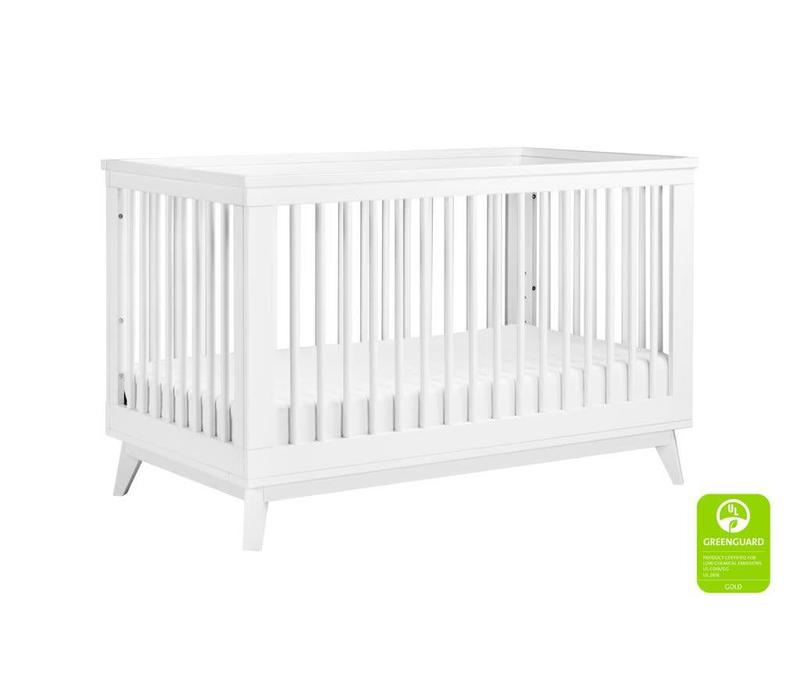 Baby Letto Scoot 3 In 1 Convertible Crib With Toddler Rail In White