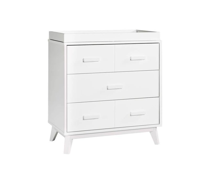 Baby Letto Scoot Dresser With Changer Tray In White