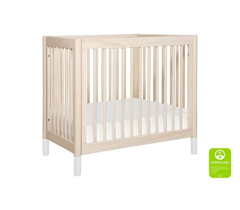 Baby Letto Gelato 2 In 1 Mini Crib In Washed Natural- White (Pad Included)