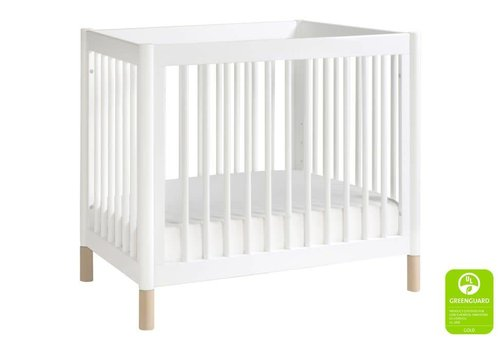 Baby Letto Baby Letto Gelato 2 In 1 Mini Crib In White- Washed Natural (Pad Included)