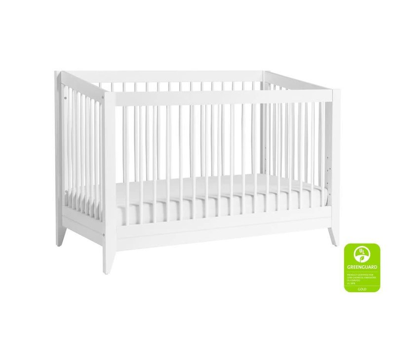 Baby Letto Sprout 4 In 1 Convertible Crib With Toddler Rail - White