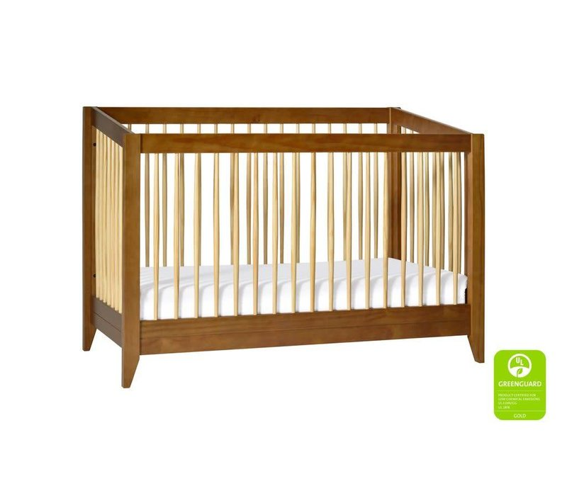 Baby Letto Sprout 4 In 1 Convertible Crib With Toddler Rail -Chestnut