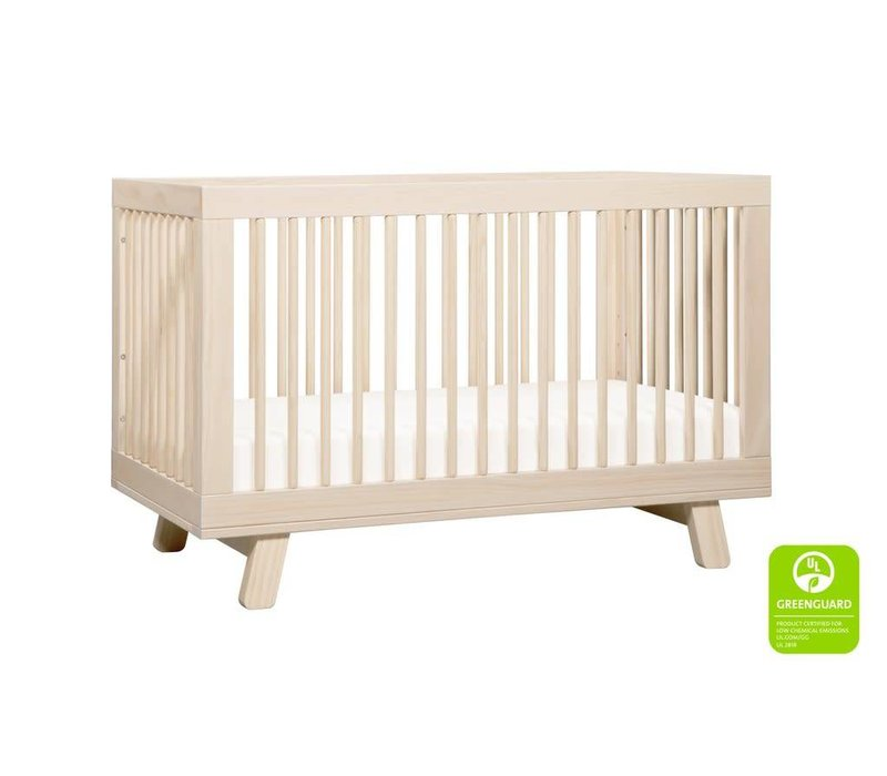 Baby Letto Hudson 3 In 1 Convertible Crib With Toddler Rail In Washed Natural