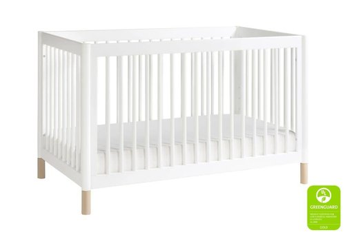 Baby Letto Baby Letto Gelato 4-in-1 Convertible Crib with Toddler Bed Kit In White-Washed Natural