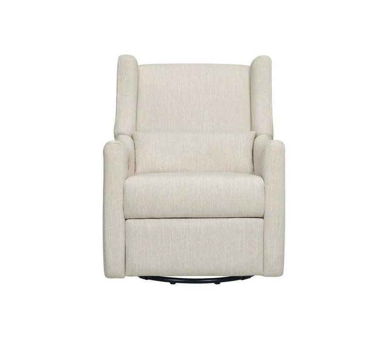 Baby Letto  Kiwi Glider Recliner In White Linen
