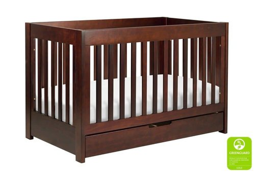 Baby Letto Baby Letto Mercer 3 In 1 Convertible Crib With Toddler Rail In Espresso