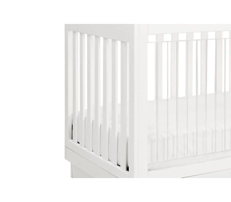 Baby Letto Harlow 3 In 1 Convertible Crib With Acryclic- All White