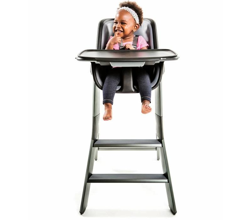 4moms High Chair In Black- Grey