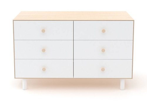 Oeuf Oeuf Fawn 6 Drawer Dresser In Birch/ White