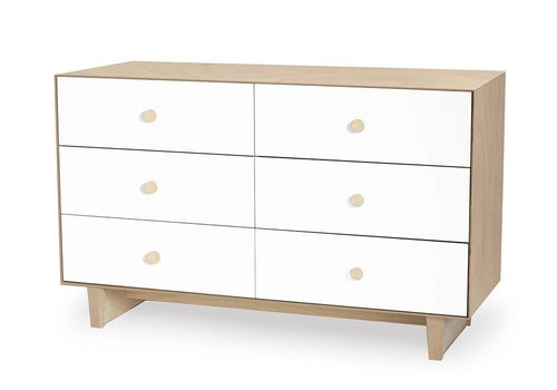 Oeuf Oeuf Rhea 6 Drawer Dresser In Birch/ White