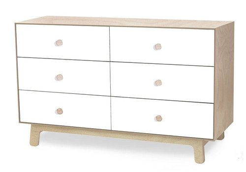 Oeuf Oeuf Sparrow 6 Drawer Dresser In Birch/ White