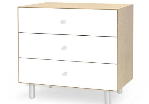 Oeuf Oeuf Classic 3 Drawer Dresser In Birch/ White