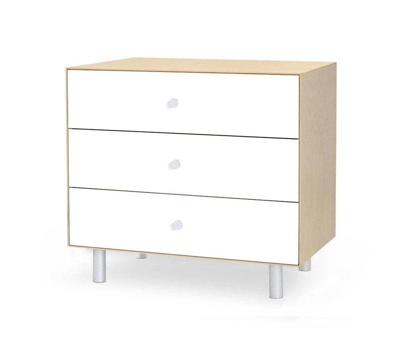 Oeuf Classic 3 Drawer Dresser In Birch/ White