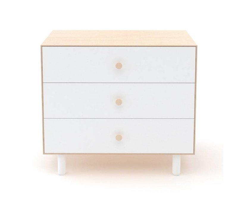 Oeuf Fawn 3 Drawer Dresser In Birch/ White
