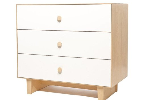 Oeuf Oeuf Rhea 3 Drawer Dresser In Birch/ White