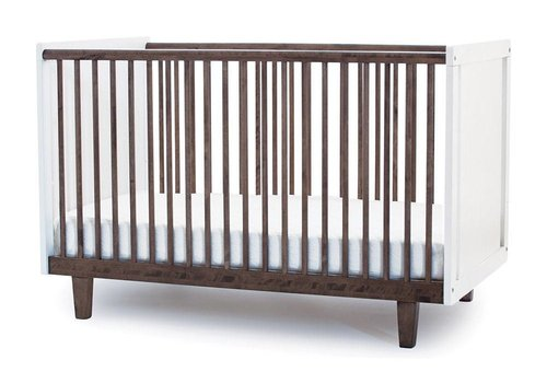 Oeuf Oeuf Rhea Crib In White/Walnut