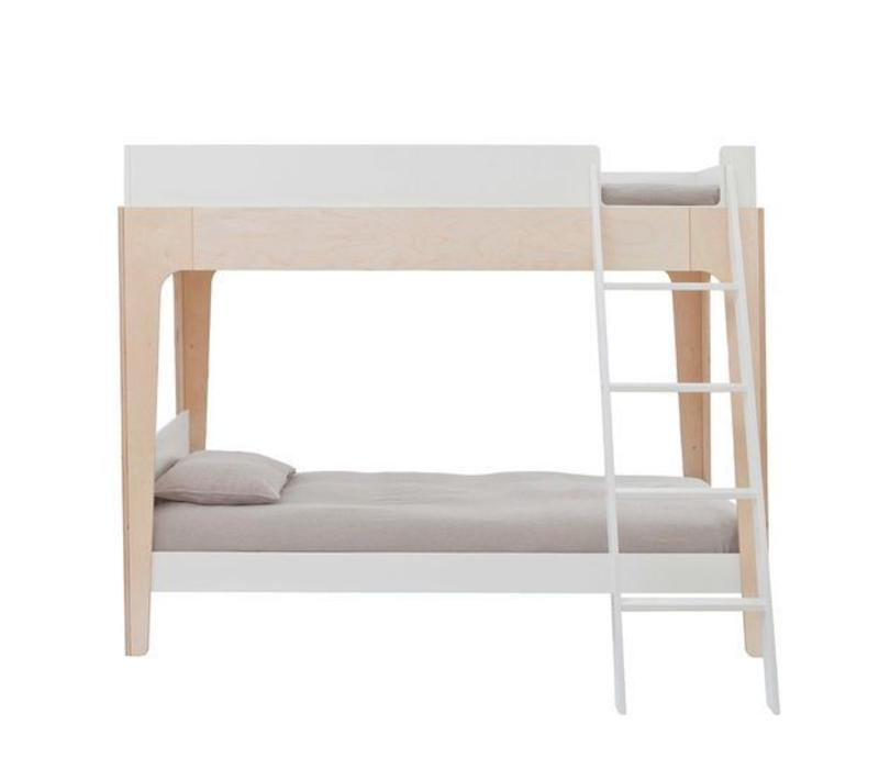 Oeuf Perch Collection Twin Bunk Bed In White/ Birch