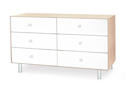 Oeuf Oeuf Classic 6 Drawer Dresser In Birch/ White