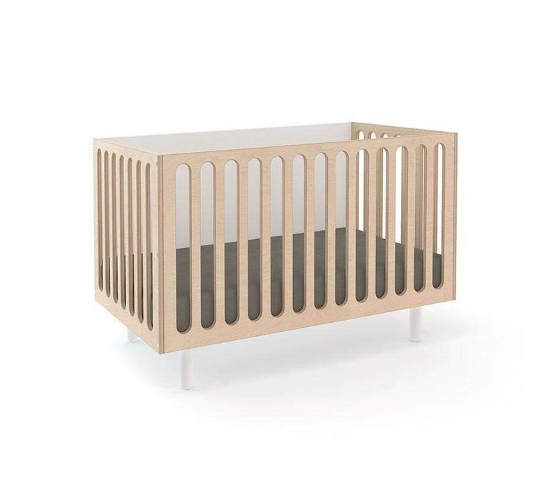 Oeuf Fawn 2 In 1 Bassinet -Crib System In Natural-White