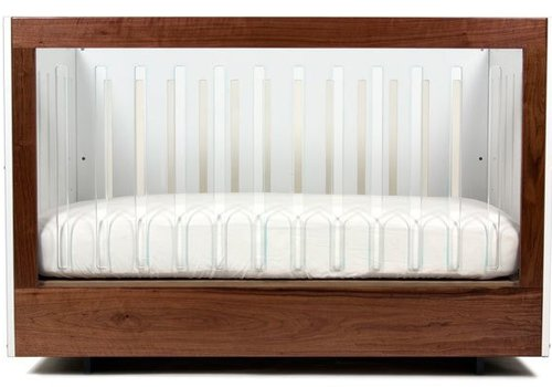 Spot On Square Spot On Square Roh Crib-White-Walnut - 1 Side Acrylic