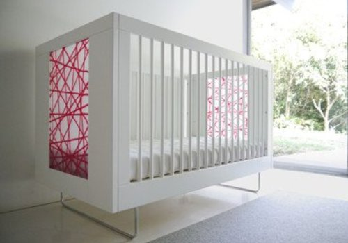 Spot On Square Spot On Square Alto Crib With Red Strands