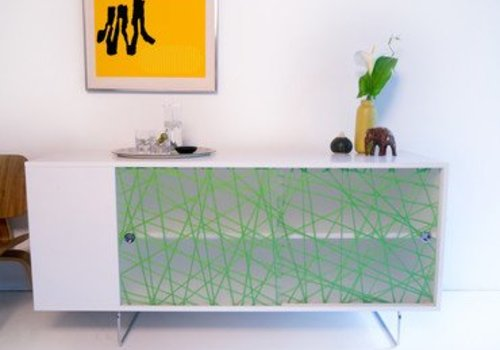 Spot On Square Spot On Square Alto Credenza With Green Strands