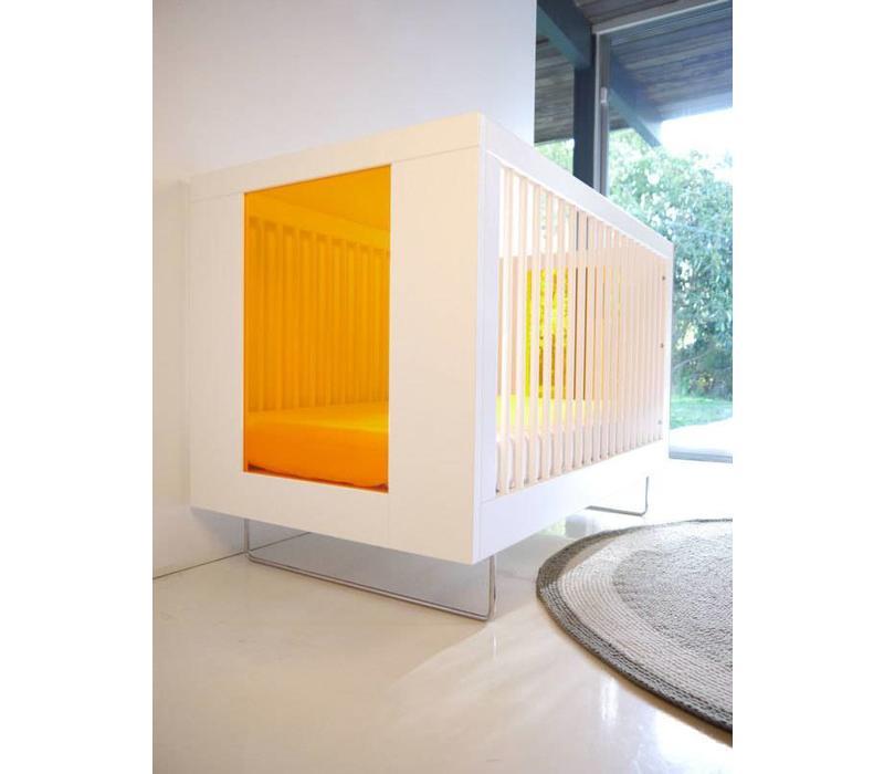 Spot On Square Alto Crib With Tangerine Acrylic