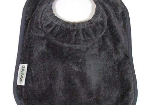 Silly Billyz SillY BillyZ Snuggly Toweling Biblet  0-2 Years In Dark Grey