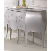 Natart Alexa Desk With Seating In Silver