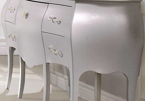 Natart Natart Alexa Desk With Seating In Silver