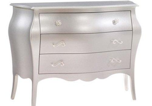 Natart Natart Alexa 3 Drawer Dresser In Silver