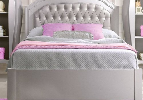 Natart Natart Alexa Double Bed With Low Profile Footboard And Rails Without Panel