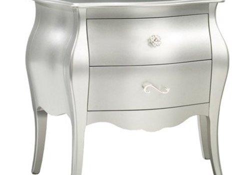 Natart Natart Alexa Nightstand In Silver