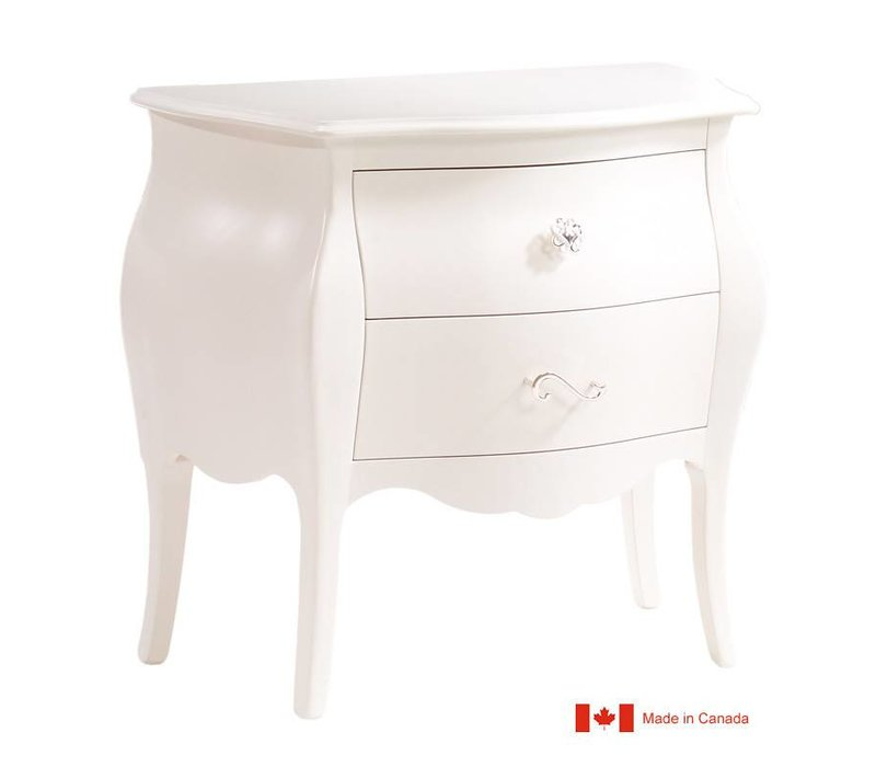 Natart Allegra Nightstand In French White