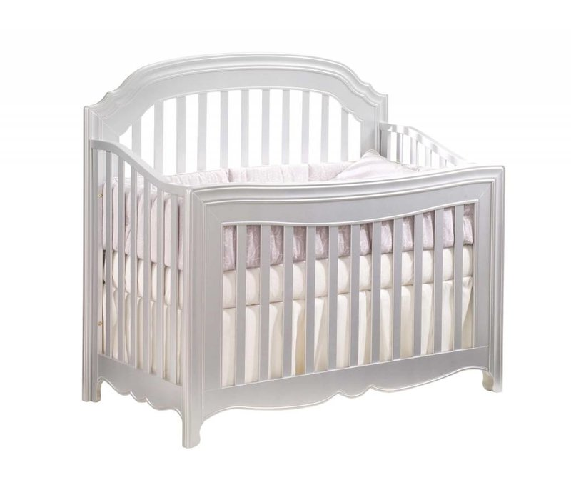 Natart Alexa 5 In 1 Convertible Crib Without Rails In Silver