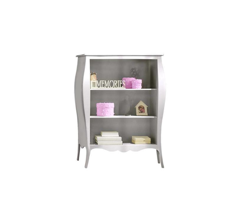 Natart Alexa Bookcase In Silver
