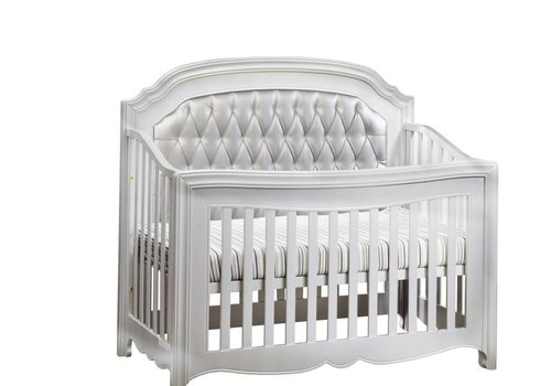 Natart Natart Alexa 5 In 1 Convertible Crib Without Rails In Silver With Silver Panel