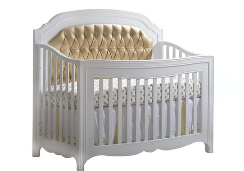 "Natart Natart Allegra-Gold ""5-in-1""  Convertible Crib (w/out rails) With Gold Panel"