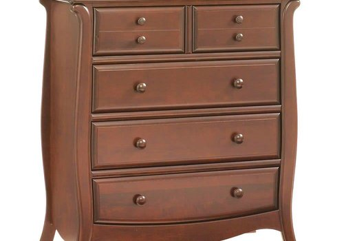 Natart Natart Bella 5 Drawer Dresser In Walnut