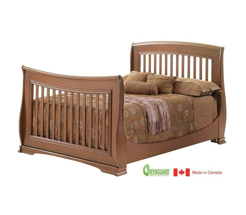 Natart Bella Double Bed 54 Inches In Walnut