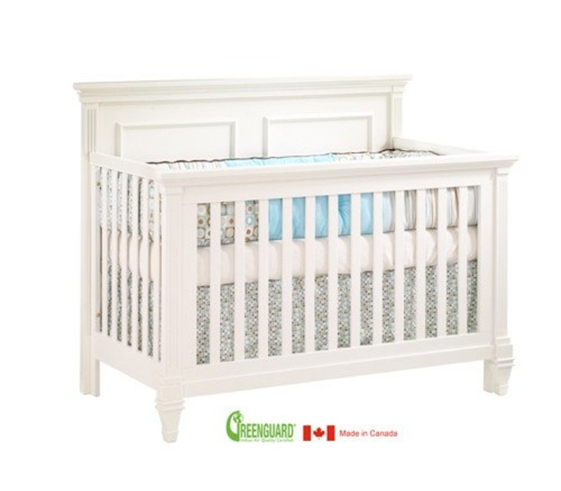 Natart Belmont 4 In 1 Convertible Crib In French White
