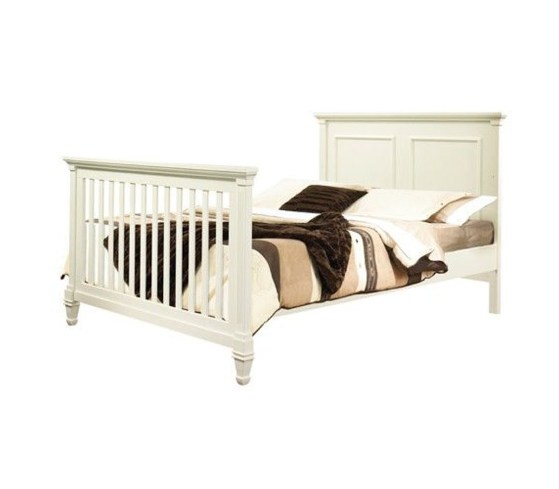 Natart Belmont Double Bed With Low Profile Foot Board In French White