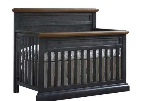 Natart Natart Cortina  4-in-1 Convertible Crib  (w/out rails) Black Chalet -Cognac