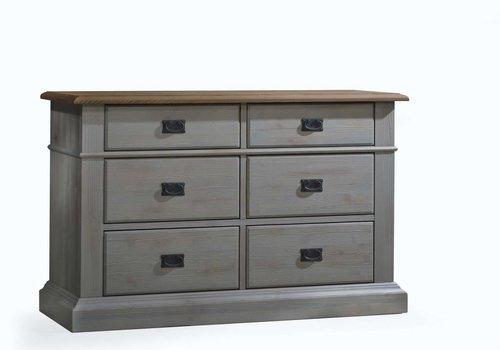 Natart Natart Cortina Double Dresser In Grey Chalet-Cognac