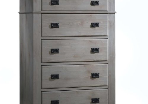 Natart Natart Cortina 5 Drawer Dresser In Grey Chalet-Cognac