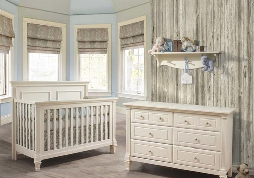 Natart Belmont Crib In French White, And Double Dresser
