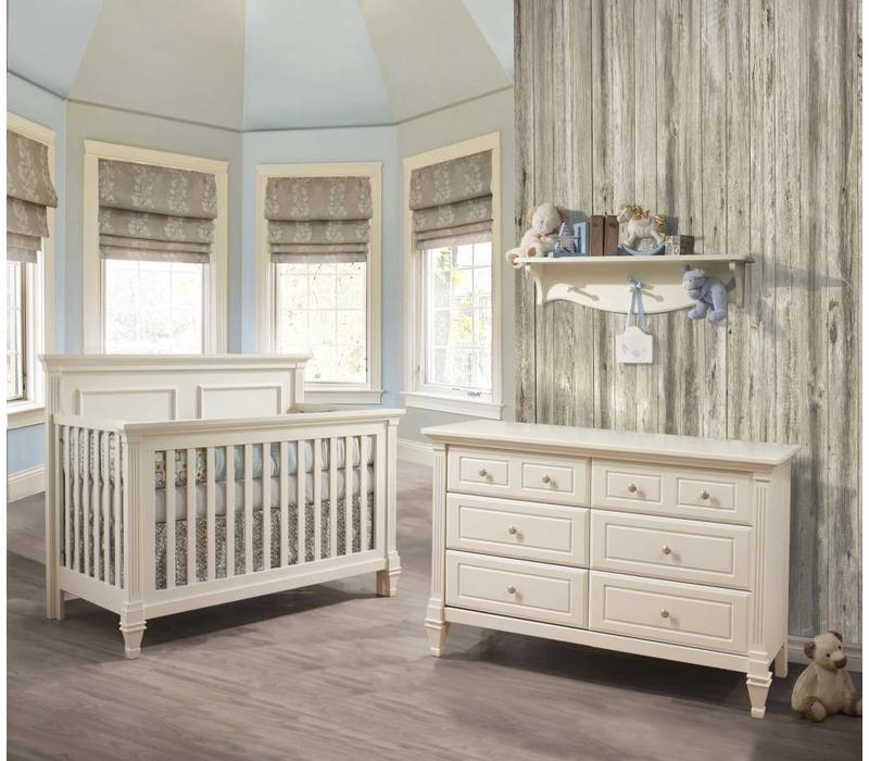 Belmont Crib In French White, And Double Dresser