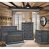 Natart Natart Cortina Crib IN Black Chalet, Double Dresser And 5 Drawer Dresser